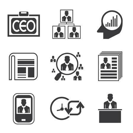 dispensation: management icons, business icons