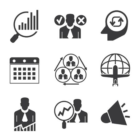 allocation: management icons, business icons