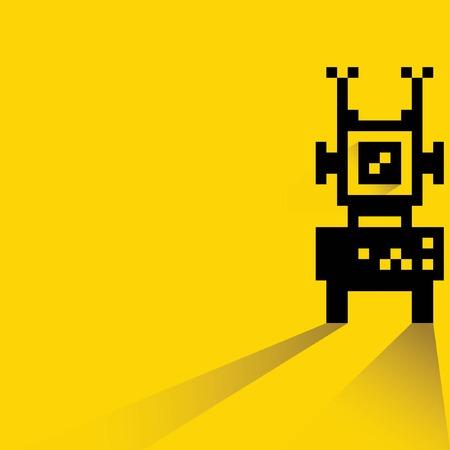 pixel robot Vector