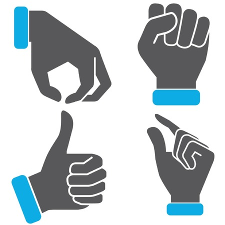 accepting: hand sign Illustration