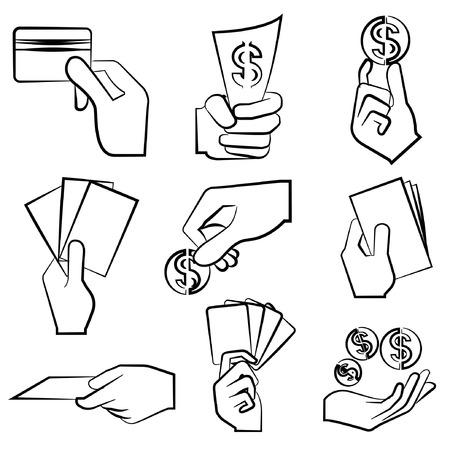 hold up: hand holding money