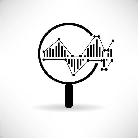 data analytics, big data concept Vettoriali