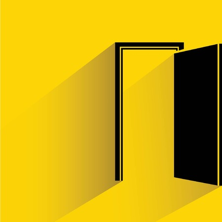 door: open door Illustration