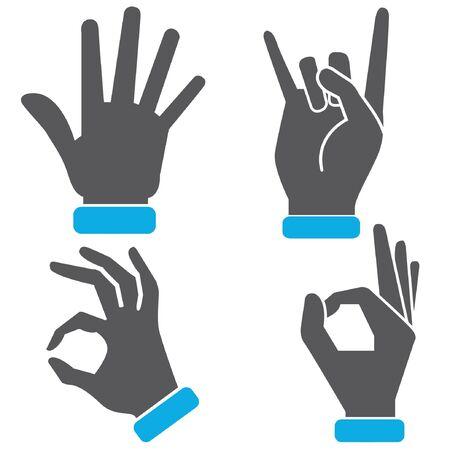 hand sign: hand sign Illustration