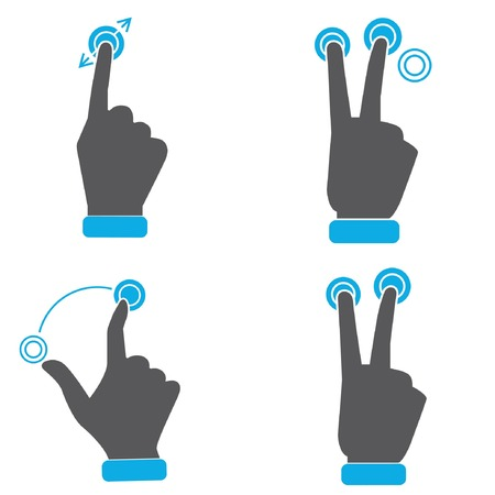nudge: hand touch screen gestures icons
