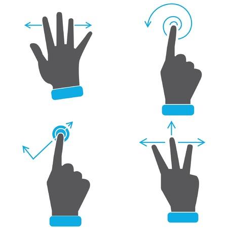제스처: 손으로 터치 스크린 제스처 아이콘