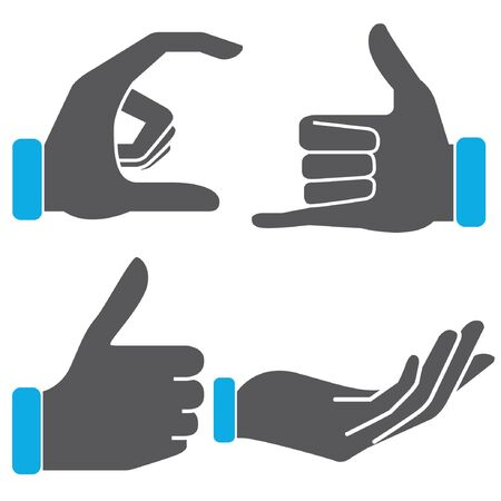 give and take: hand sign Illustration