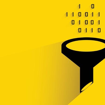 the big: filtro de datos, Big Data Vectores