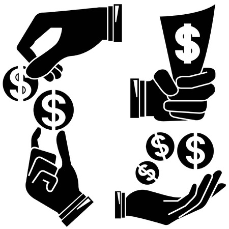 handful: hand holding money