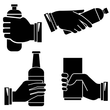 intoxicant: hand holding bottle