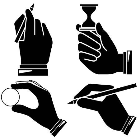 hand pen: hand holding pen