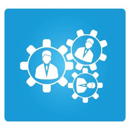 administracion de empresas: gestión de recursos humanos Vectores