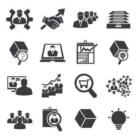human resource icons Illustration