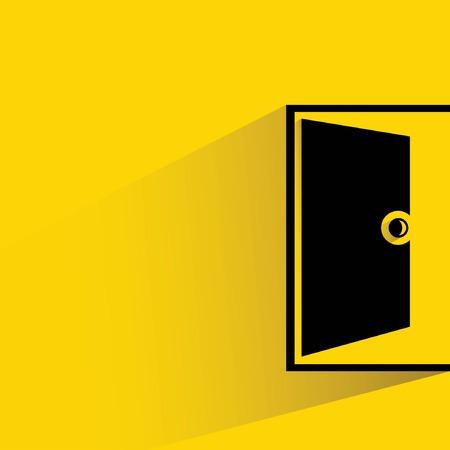 open the door: open door Illustration
