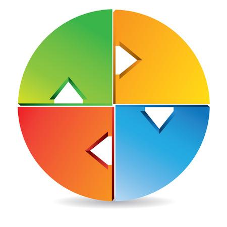vector circle diagram Vector
