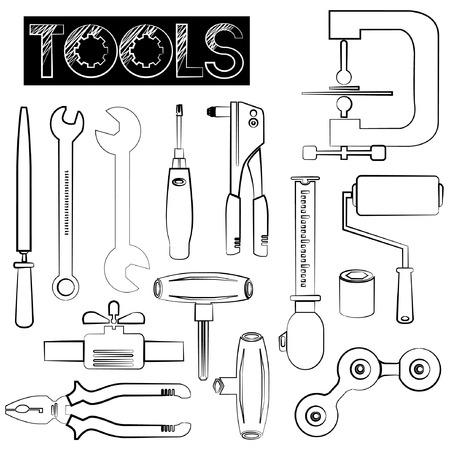 implement: tools icons, sketch design