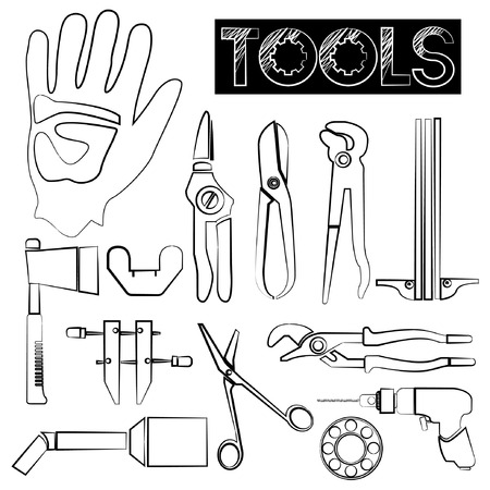 recondition: tools icons, sketch design