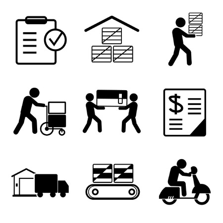 supplier: shipping icons Illustration