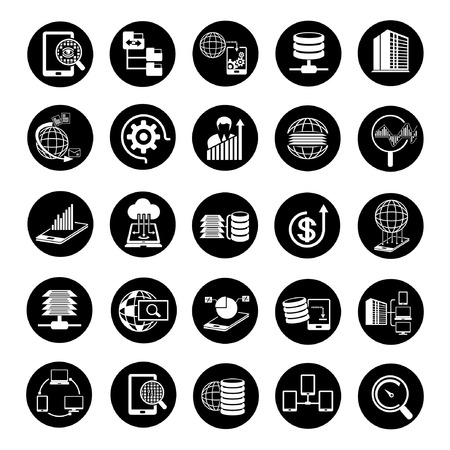 global settings: web analytics icons, big data icons