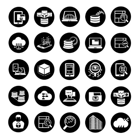 transmitting: web analytics icons, big data icons