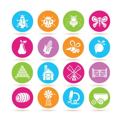 tillage: Icone di agricoltura Vettoriali