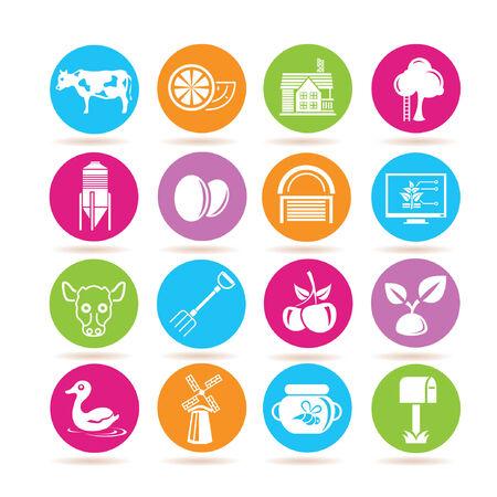tillage: Icone agricoltura