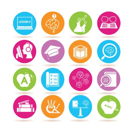 balanza de laboratorio: Iconos de la escuela