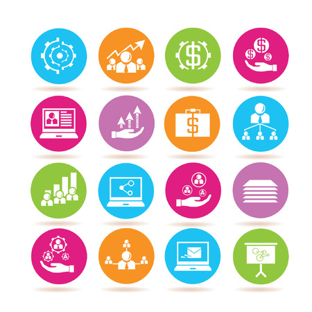 allocate: business management icons Illustration