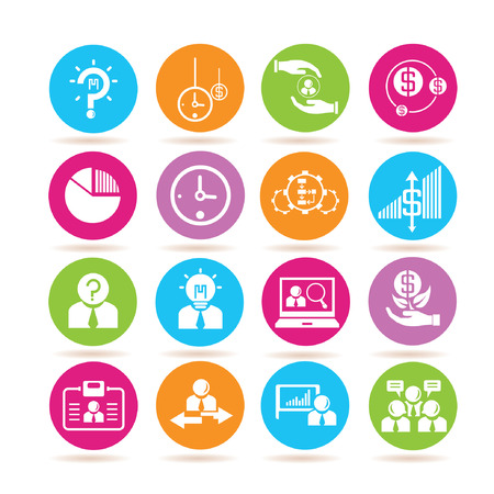 business administration: business solution icons