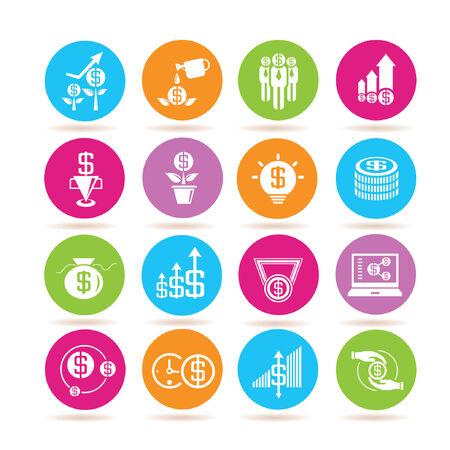 allocate: money icons