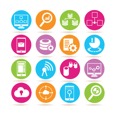 global settings: data analytics icons Illustration