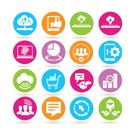 estimation: data analytics icons, data analysis icons