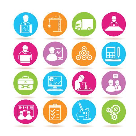 piano di progetto: Icone di gestione di progetti di costruzione