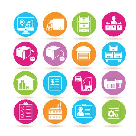 shipping icons  イラスト・ベクター素材