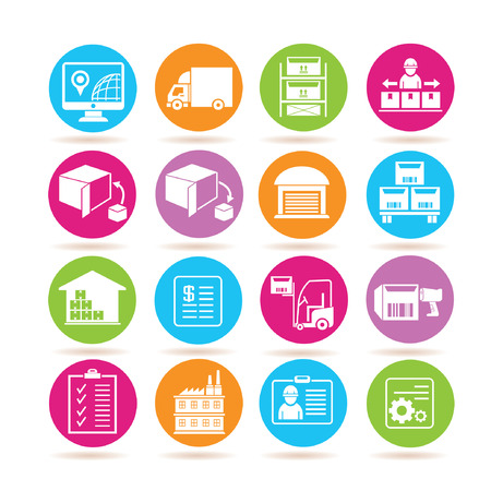supply chain: shipping icons Illustration