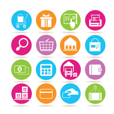 e commerce icons Vector