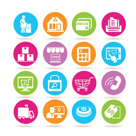 dealing: e commerce icons