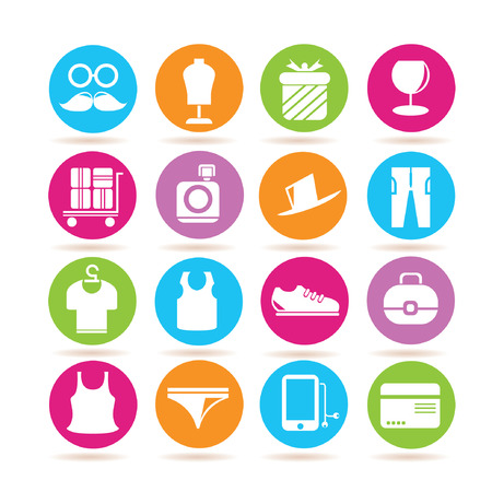 fashion and shopping icons Vector