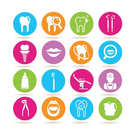 dental implants: dental icons