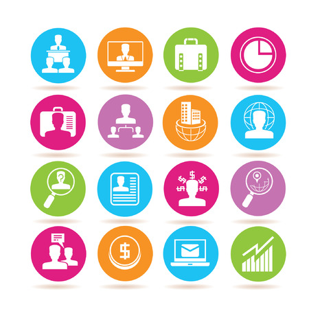 color consultant: business management icons Illustration