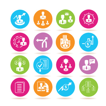 management icons Illustration