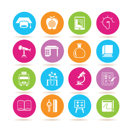 education icons 일러스트