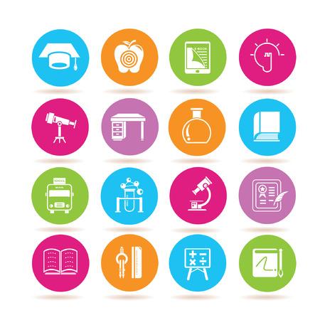 icônes d'éducation Illustration