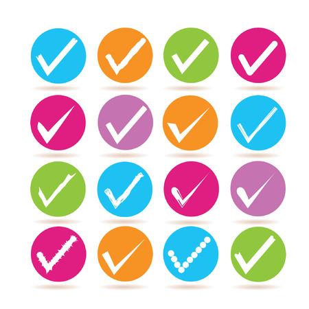 vote symbol: check mark icons Illustration