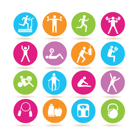 aerobic exercise: fitness icons