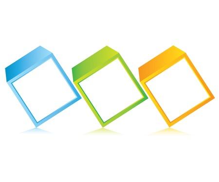cube process diagram Vector
