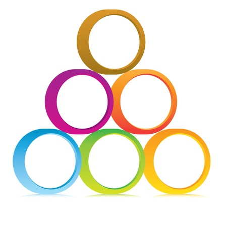 pyramid array of circle Vector