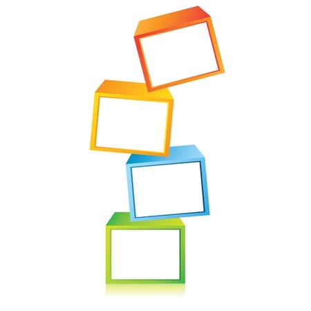 cubes diagram Vector