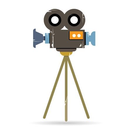 movie projector: retro movie camera