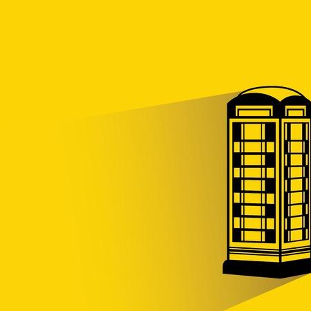 telephone booth: callbox Illustration